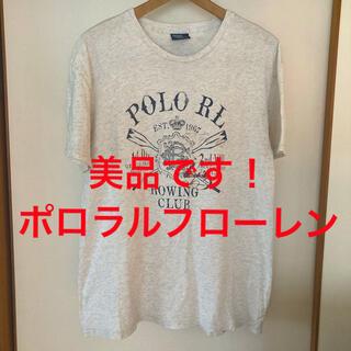 ポロラルフローレン(POLO RALPH LAUREN)の美品です!国内正規品!RRL ポロラルフローレン アーチロゴ コットンTシャツ(Tシャツ/カットソー(半袖/袖なし))