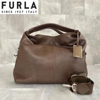 フルラ(Furla)の【FURLA】フルラ ダークブラウン 2way  肩掛け トートバッグ レザー(トートバッグ)