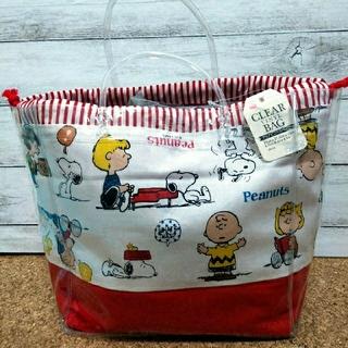 ピーナッツ(PEANUTS)のクリアバッグ&スヌーピー巾着(ショルダーバッグ)