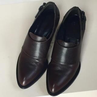 アレキサンダーワン(Alexander Wang)の本物アレキサンダーワン美品シューズ37ハーフ★ブーツLUCAGROSSIacne(ローファー/革靴)