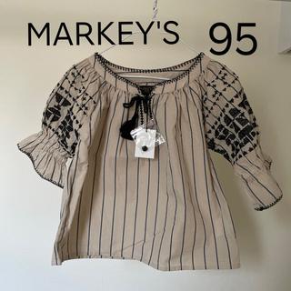 マーキーズ(MARKEY'S)の新品 95 マーキーズ ビッグフィールド トップス 刺繍 ブラウス(Tシャツ/カットソー)