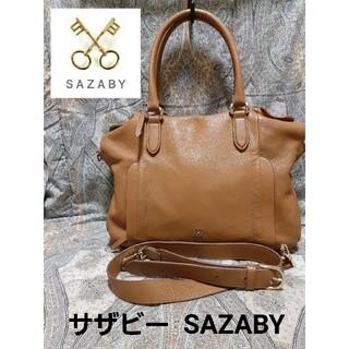 サザビー(SAZABY)のサザビー SAZABY 2wayレザー斜め掛けショルダーハンドバック(ショルダーバッグ)