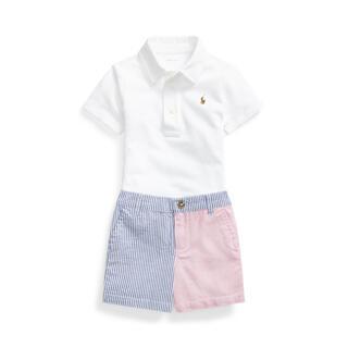 ラルフローレン(Ralph Lauren)の美品★ラルフローレンのポロシャツ&パッチワークショートパンツセット★90cm(その他)