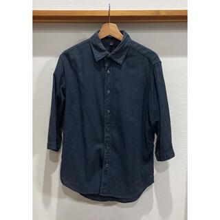 アダムエロぺ(Adam et Rope')の美品 MB ADAM ET ROPE パナマシャツ 七分袖 ネイビー(Tシャツ/カットソー(七分/長袖))
