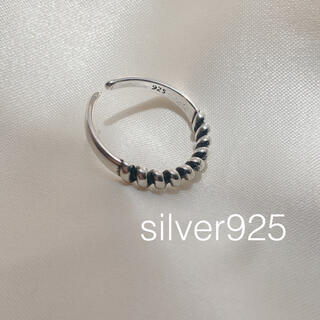 トゥデイフル(TODAYFUL)のsilver925 ラインリング(リング(指輪))