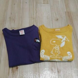 DENIM DUNGAREE - デニムダンガリー☆スヌーピーTシャツセット  140センチ