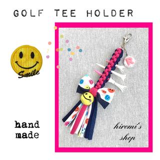 パーリーゲイツ(PEARLY GATES)のゴルフ ティーホルダー ニコちゃん スカート カートバッグ ポロシャツ に❣️(ウエア)