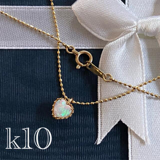 JEWELRY TSUTSUMI - 【 k10 】 美品 オパール ♡ ネックレス