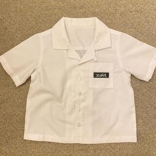 エックスガール(X-girl)の新品未使用 x-girl シャツ ボタン 白 100(Tシャツ/カットソー)