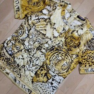レオナール(LEONARD)のレオナール ブラウス カットソー 半袖シャツ レオパード柄 美品(シャツ/ブラウス(半袖/袖なし))