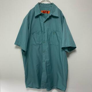 carhartt - RED CAP レッドキャップ 半袖 シャツ ワークシャツ モスグリーン