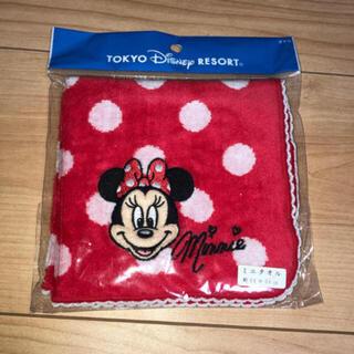 Disney - Disney♡ミニーちゃんドット柄ハンカチ