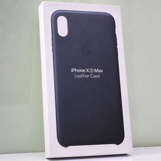 iPhone XS Max 用 Apple純正 レザーケース 紺(iPhoneケース)