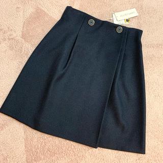 JILLSTUART - タグ付き 新品 ジルスチュアート 台形スカート ネイビー サイズ4 スカート