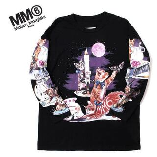 エムエムシックス(MM6)のMM6 キャットプリントロングスリーブTシャツ エムエムシックス マルジェラ(Tシャツ(長袖/七分))