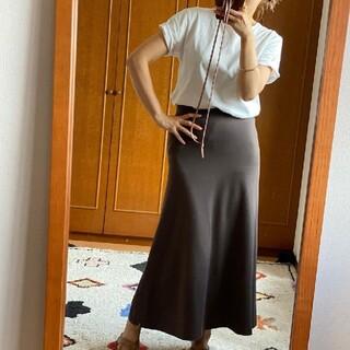 ドゥーズィエムクラス(DEUXIEME CLASSE)のドゥーズィエムクラス Jerseyフレアスカート 新品ブラウン ジャージー 新色(ロングスカート)
