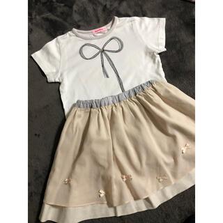 ファミリア(familiar)のファミリア  Tシャツ スカート 上下セット(Tシャツ/カットソー)