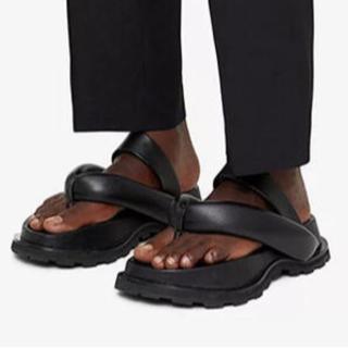 cushion sandal shoes〰︎下駄 黒 ジルサンダーお好きな方へ(サンダル)