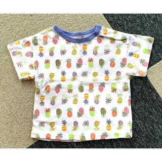 petit main - 【petit main】パイナップル柄Tシャツ ★ 90cm
