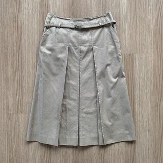 ケイタマルヤマ(KEITA MARUYAMA TOKYO PARIS)の【未使用品】ケイタマルヤマ 膝下丈 フレアスカート ボックスプリーツスカート 0(ひざ丈スカート)