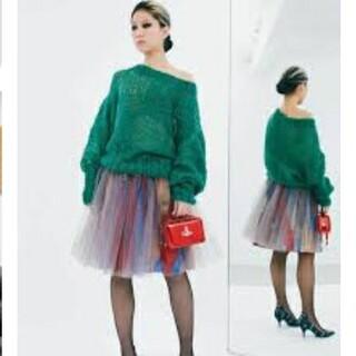 ヴィヴィアンウエストウッド(Vivienne Westwood)の美品 viviennewestwood ユニオンジャック チュールスカート (ひざ丈スカート)