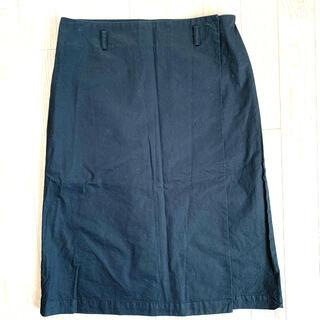 ムジルシリョウヒン(MUJI (無印良品))のラップスカート(ひざ丈スカート)