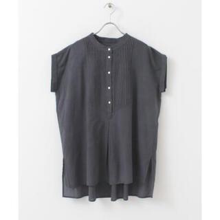 サニーレーベル(Sonny Label)のエアリーコットンピンタックドレスシャツ(シャツ/ブラウス(半袖/袖なし))
