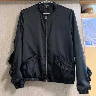 ZARA - ZARA TRF フリル装飾ボンバージャケット S 美品