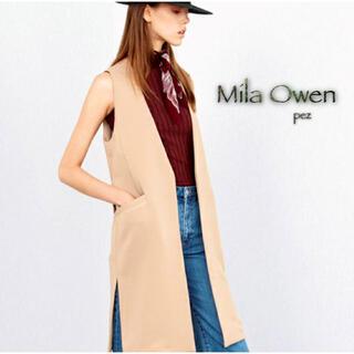 Mila Owen - Mila Owen ミラオーウェン ノーカラーロングベスト