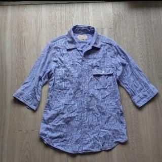 アダムエロぺ(Adam et Rope')のアダムエロペで購入 綿100% 五分袖シャツ L(Tシャツ/カットソー(七分/長袖))