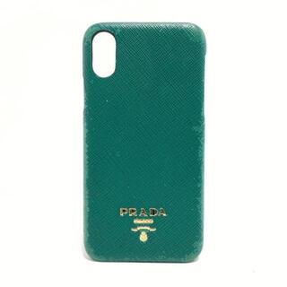 プラダ(PRADA)のプラダ 携帯電話ケース - 1ZH058 グリーン(モバイルケース/カバー)