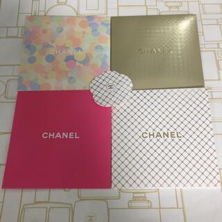 シャネル(CHANEL)の4枚set❤︎CHANEL メッセージ カード カメリアステッカー付き(カード/レター/ラッピング)