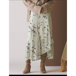 マーキュリーデュオ(MERCURYDUO)の新品タグ付き MERCURYDUO マーキュリーデュオ 刺繍シフォンスカート(ロングスカート)