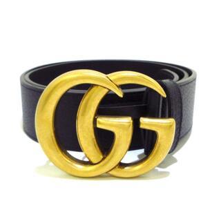グッチ(Gucci)のグッチ ベルト美品  406831 黒×ゴールド(ベルト)