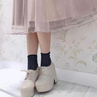 エブリン(evelyn)のアンミール 太ヒールレースアップシューズ ローファー シューズ(ローファー/革靴)