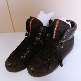 PRADA - PRADA プラダ スニーカー ハイカット レディース 36 ブラック 靴