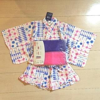 シマムラ(しまむら)のゆかたドレス ピンク&紫(甚平/浴衣)