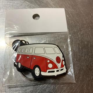 フォルクスワーゲン(Volkswagen)のワーゲンバス  キーホルダー 赤(キーホルダー)