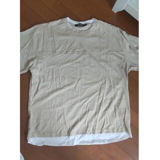 シマムラ(しまむら)の重ね着風シャツ オーバーサイズ 半袖 ストリート系 韓国(Tシャツ/カットソー(半袖/袖なし))
