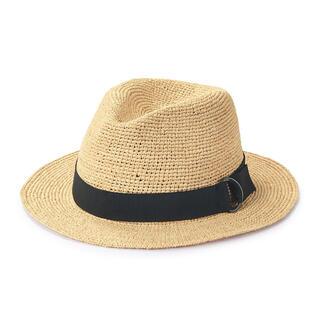 ムジルシリョウヒン(MUJI (無印良品))の新品未使用 無印良品 ラフィア たためる 中折れ帽子 生成(麦わら帽子/ストローハット)