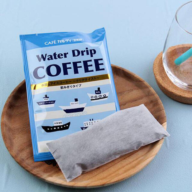 KALDI(カルディ)の新品 カルディ ウォータードリップコーヒー&クリアボトルセット 食品/飲料/酒の飲料(コーヒー)の商品写真