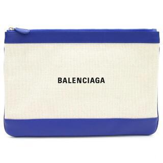 バレンシアガ(Balenciaga)の バレンシアガ クラッチバッグ ネイビー クリップ M(クラッチバッグ)