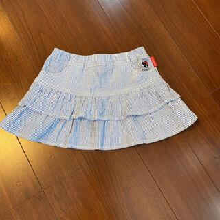 ダブルビー(DOUBLE.B)のダブルビー ミキハウス 夏スカート 80〜90(スカート)