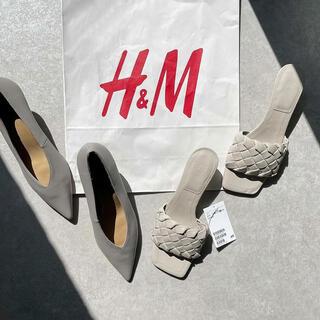 エイチアンドエム(H&M)の新品タグ付き♡インスタ人気完売♡H&M♡サンダルミュール(サンダル)