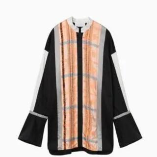 マメ(mame)のmame kurogouchi 19aw フローラルストライプジャガードシャツ(シャツ/ブラウス(長袖/七分))