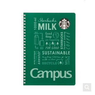 スターバックスコーヒー(Starbucks Coffee)のスターバックス ホリデー クリスマス キャンパスリングノート グリーン スタバ(ノート/メモ帳/ふせん)