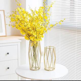 北欧 花瓶 韓国 フラワーベース ゴールド 花 海外 ガラス アンティーク(花瓶)