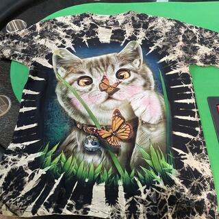 リアルTシャツ ネコ サイズL(Tシャツ/カットソー(半袖/袖なし))