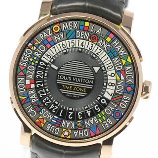 ルイヴィトン(LOUIS VUITTON)の☆良品 ルイ・ヴィトン エスカル タイムゾーン Q5EK4 メンズ 【中古】(腕時計(アナログ))