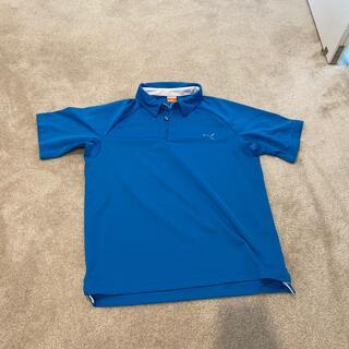 PUMA - プーマ PUMA スポーツウェア ゴルフウェア 青 ポロシャツ メンズ